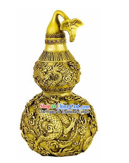 Kai Guang Feng Shui Chinese Golding Dragon Bottle Gourd (good for old and young)