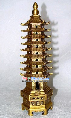 Chinese Classic Kai Guang Brass Tower (achieve good score in exam)