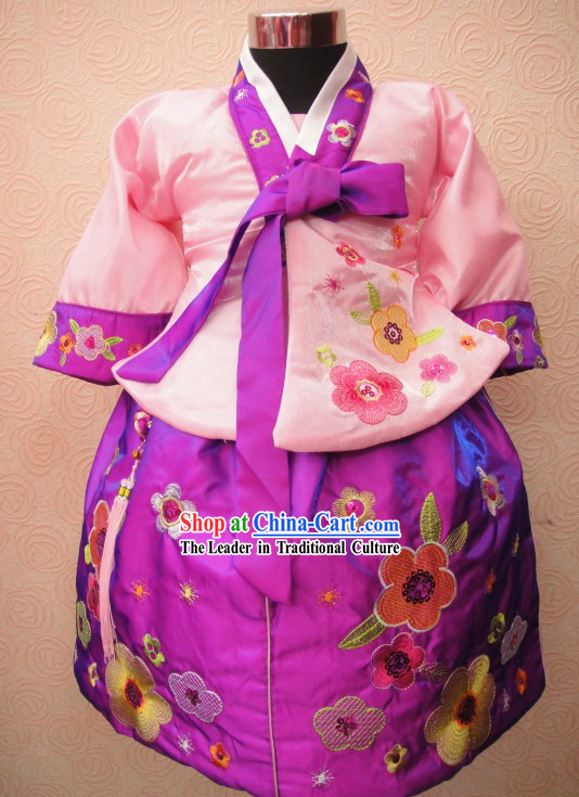 Girl Birthday Dol Korean Hanbok Dress Set