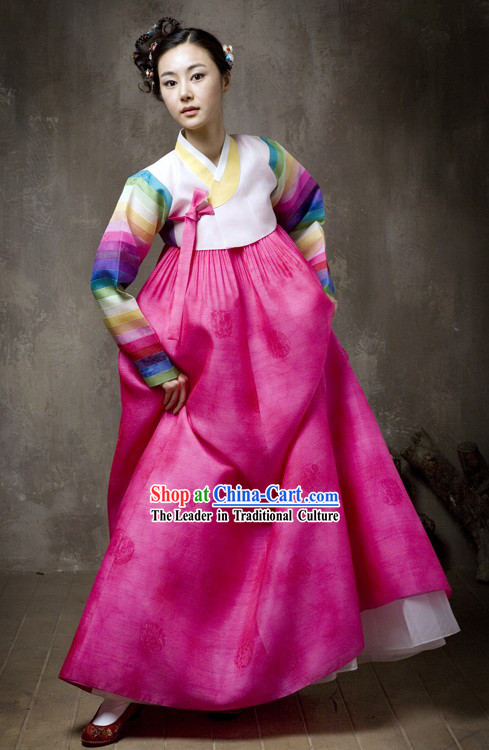 Supreme Korean Traditional Wedding Dress and Hanbok Complete Set for Women