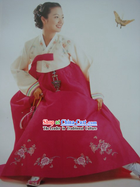 Traditional Korean Hanbok Dress for Women