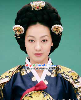 Ancient Korean Palace Lady Wig and Hair Accessories Set
