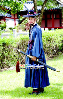 Ancient Korean Palace Official Costumes Set