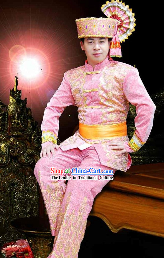 Traditional Thailand Men Clothing Set