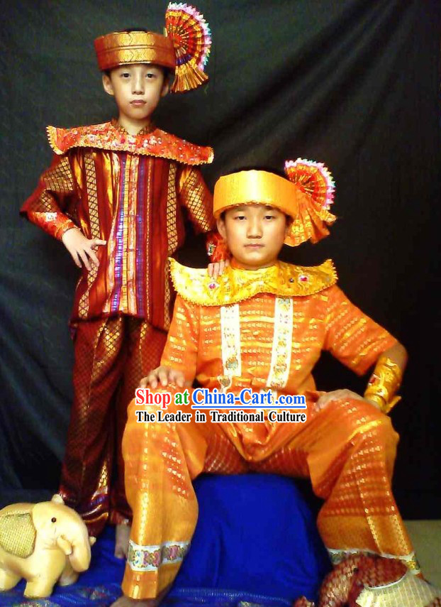 Traditional Thailand Prince Clothing for Children