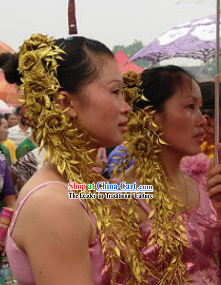 Traditional Thailand Long Flower Hair Accessories for Women