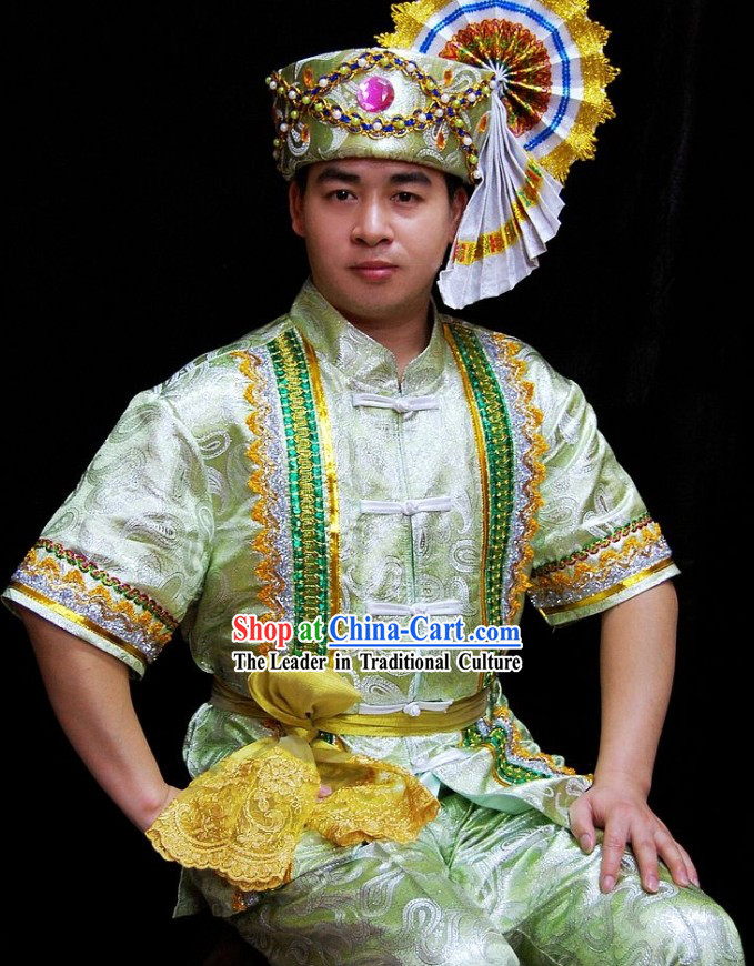 Traditional Thailand Palace Dress Set for Men