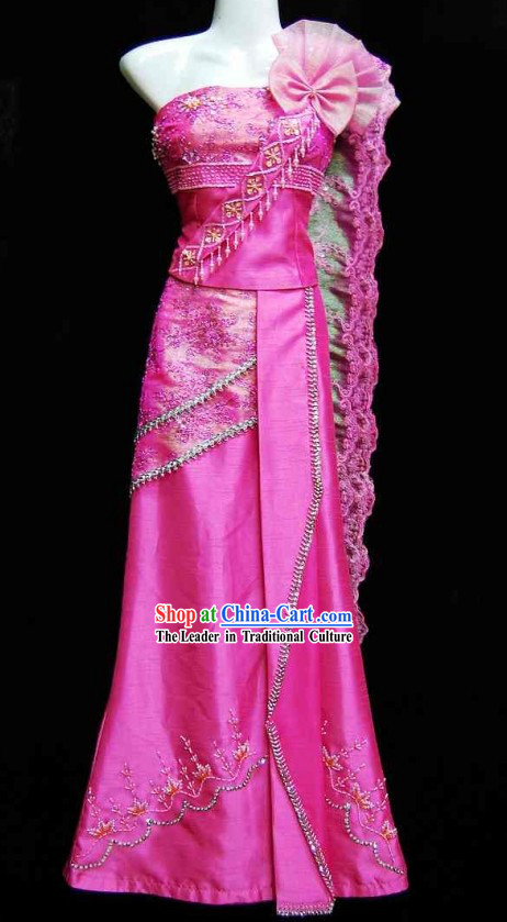 Traditional Thailand Wedding Dress for Girls