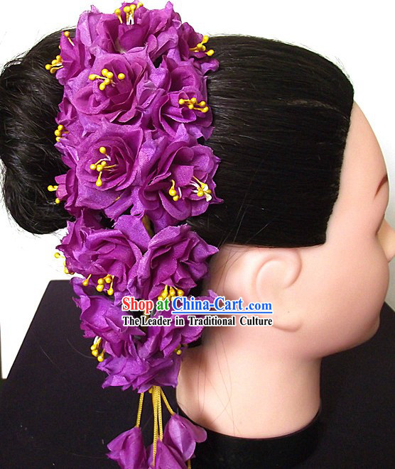 Traditional Thailand Purple Flower Hair Accessories