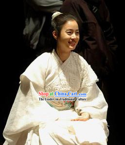 Ancient Korean White Princess Costumes Complete Set for Women
