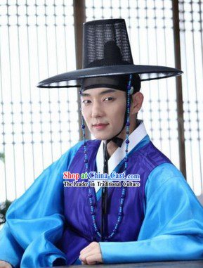 Lee Jun Ki Arang and the Magistrate Korean Hanbok Clothing and Hat Complete Set for Men