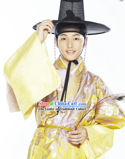 Ancient Korean TV Drama Plays Hanbok Costume Complete Set for Men