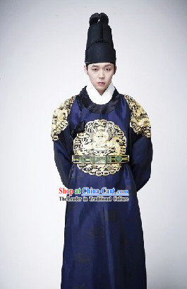 Ancient Korean TV Drama Plays Emperor Hanbok Costume Complete Set for Men