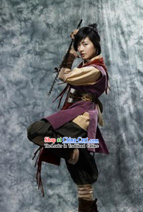 Hong Gil Dong Ancient Korean Swordswoman Hanbok Costumes for Women