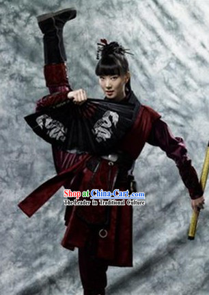 Hong Gil Dong Ancient Korean Swordwoman Hanbok Costumes for Women