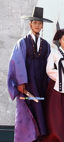 Korean Traditional Young Man Clothes and Hat Complete Set