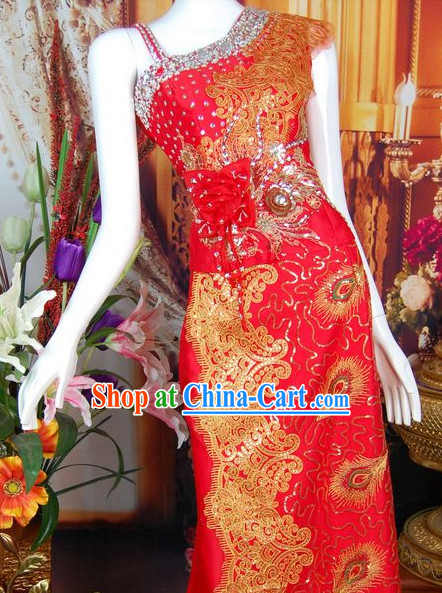 Southeast Asia Traditional Wedding Clothing for Women