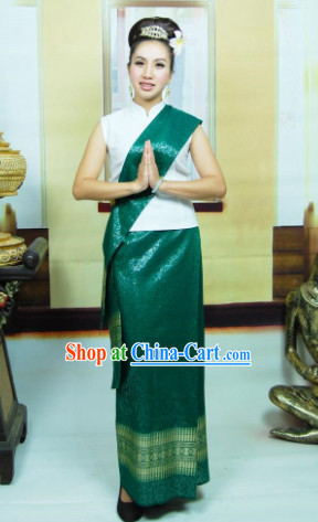 Southeast Asia Traditional Thailand Clothing for Girls