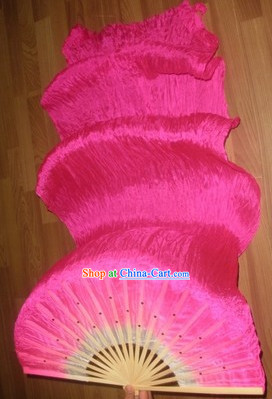 Professional 59 Inches Long Silk Dance Fan