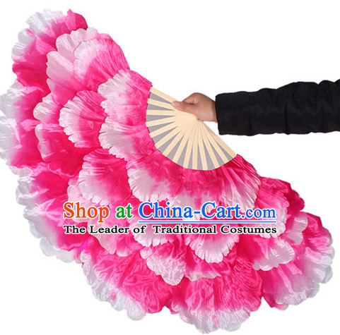 Traditional Pink Peony Flower Dance Hands Fan Hand Fan Stage Performance Parade Korean Japanese Chinese Fan