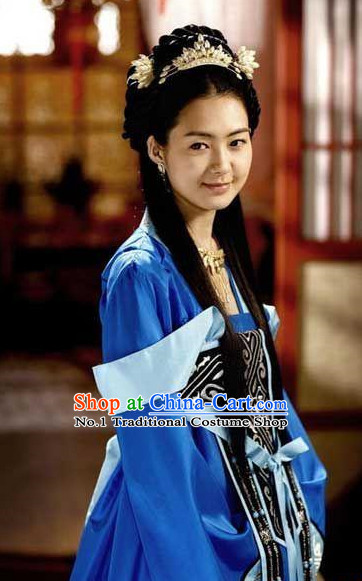 Korean Princess Film Costumes and Hair Accessories for Women