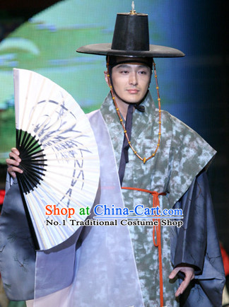 Traditional Korean Scholar Costume for Men