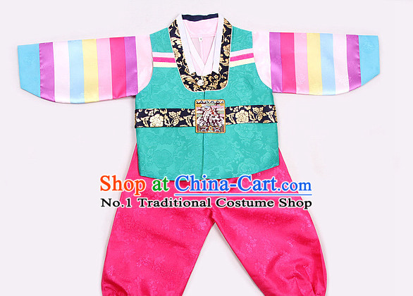 Korean Fashion Traditional Hanbok Outfit Complete Set for Boys