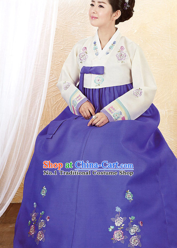 Korean Fashion Traditional Dress Complete Set for Ladies