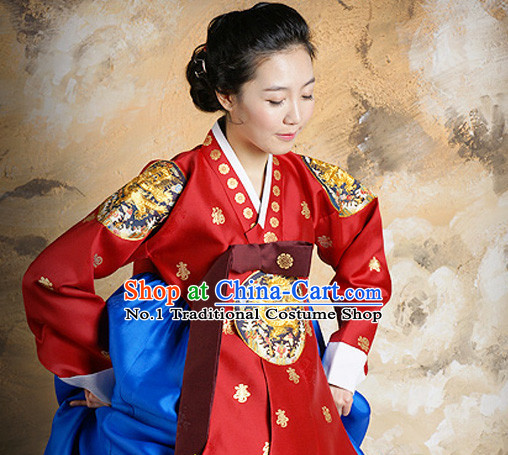 Korean Traditional Dress Dangui Hanbok Clothes Complete Set