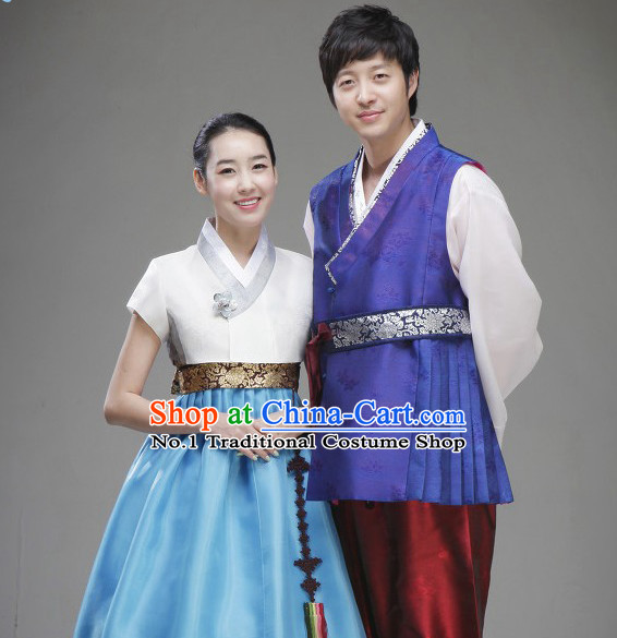 Korean Traditional Wedding Dress Complete Set for Brides and Bridegrooms
