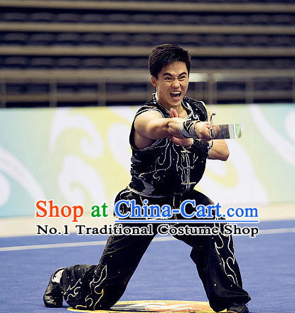 4a49f6903 Top Martial Arts Uniforms Supplies Kung Fu Southern Sword Competition  Uniforms for Men