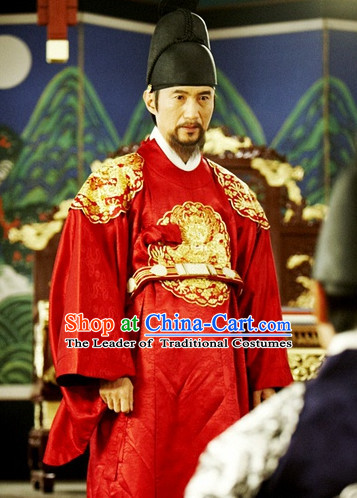 Ancient Korean Emperor Crown Emperor Hat Headwear for Men.