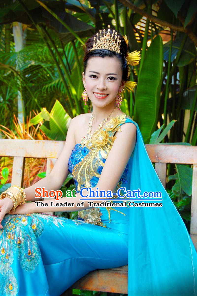 Traditional Thailand Formal Classic Dress Plus Size Clothing Occasion Dresses online Clothes Shopping