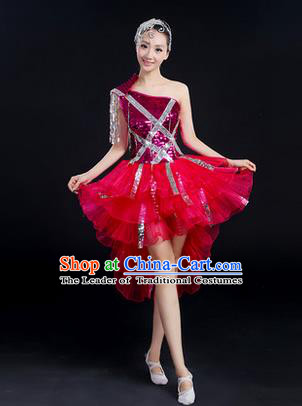 66738846182d8 Traditional Chinese Modern Dancing Costume, Women Opening Dance Costume,  Modern Dance Latin Dance Dress