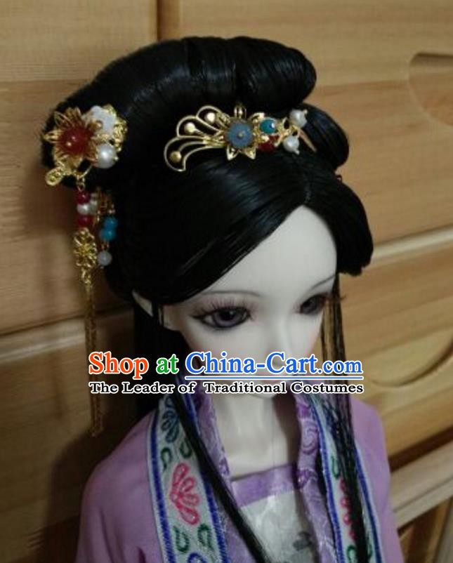 7d14cb0c5 Traditional Handmade Chinese Ancient Classical Hair Accessories and Wig Complete  Set Hairpins for Women
