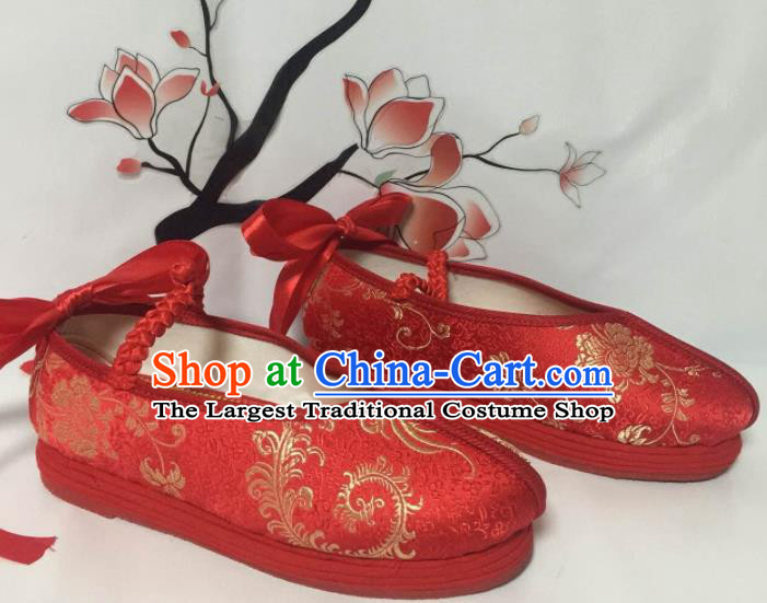31ad8f8dd3aa Traditional Chinese Shoes Wedding Shoes Ancient Princess Shoes Red Blood  Stained Shoes for Women